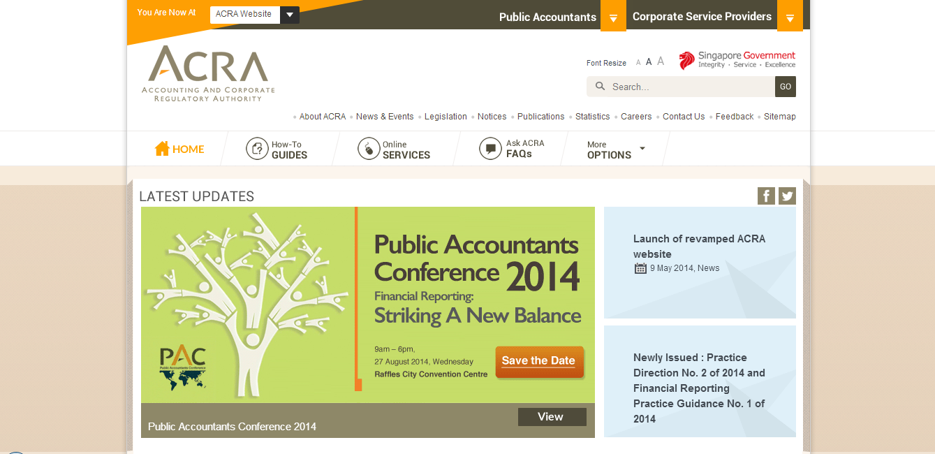 ACRA New Website